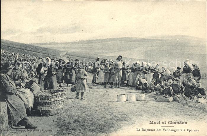 Epernay Marne Moet et Chandon Champagne Dejeuner des Vendangeurs / Epernay /Arrond. d Epernay