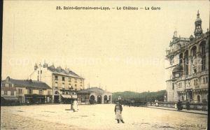 Saint-Germain-en-Laye Chateau et la Gare / Saint-Germain-en-Laye /Arrond. de Saint-Germain-en-Laye