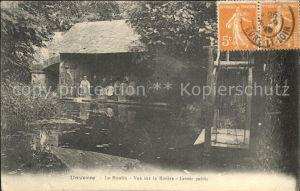 Unverre Moulin vue sur la Riviere Lavoir pubic Stempel auf AK / Unverre /Arrond. de Chateaudun