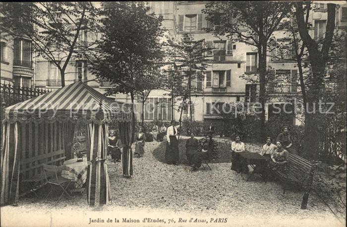 Paris Jardin de la Maison d\'Etudes / Paris /Arrond. de Paris Nr ...
