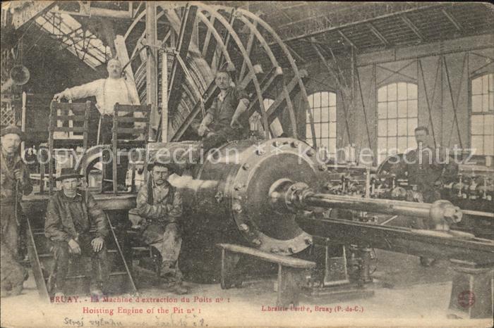Bruay-la-Buissiere Machine d'extraction du Puis Industrie / Bruay-la-Buissiere /Arrond. de Bethune