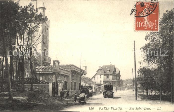 Paris-Plage Rue Saint Jean Stempel auf AK / Le Touquet-Paris-Plage /Arrond. de Montreuil