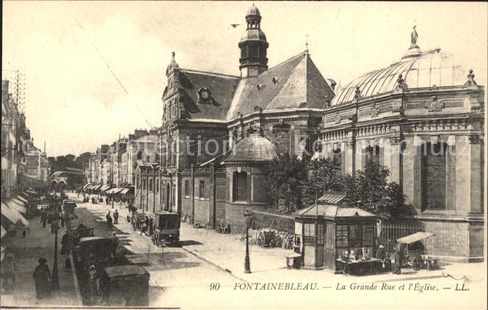 Fontainebleau Seine et Marne Grande Rue Eglise / Fontainebleau /Arrond. de Fontainebleau