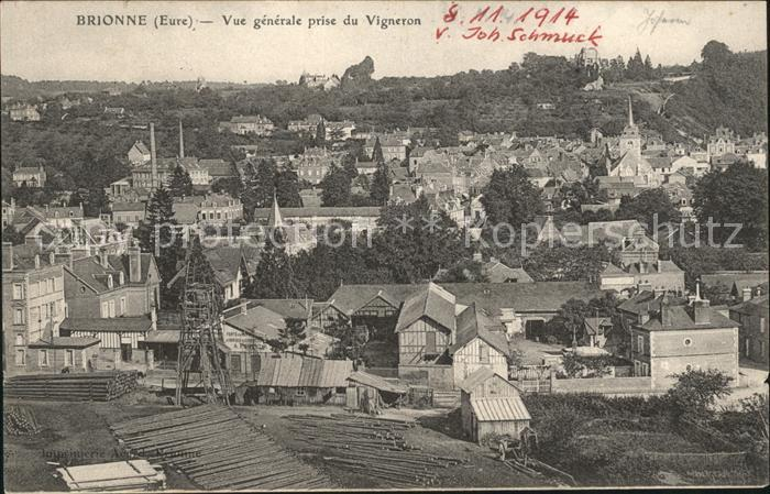 Brionne Vue generale prise du Vigneron / Brionne /Arrond. de Bernay