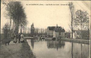 La Guerche-sur-l Aubois Les Bords du Canal Ecluse de Loie / La Guerche-sur-l Aubois /Arrond. de Saint-Amand-Montrond
