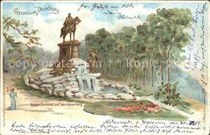 Duisburg Ruhr Kaiserdenkmal auf Kaiserberg / Duisburg /Duisburg Stadtkreis