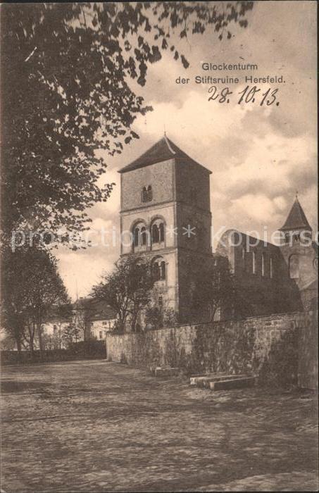 Bad Hersfeld Glockenturm Stiftsruine Hersfeld Kat. Bad Hersfeld