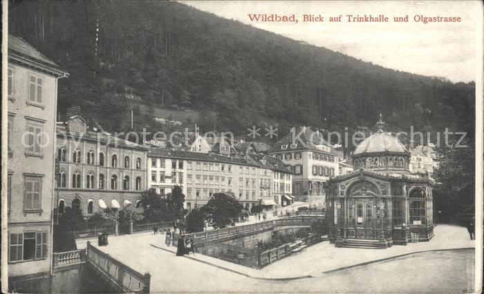 Wildbad Schwarzwald Trinkhalle Olgastrasse  Kat. Bad Wildbad