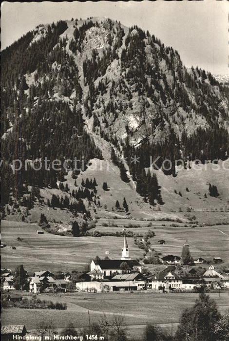 Hindelang Ortsansicht mit Kirche Hirschberg Allgaeuer Alpen Kat. Bad Hindelang