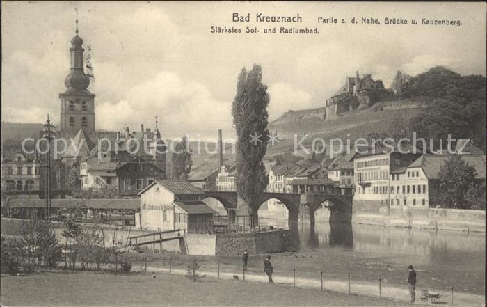 Bad Kreuznach Partie a.d. Nahe Bruecke Kauzenberg  Kat. Bad Kreuznach