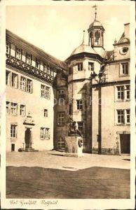 Bad Hersfeld Rathaus Denkmal Skulptur 1200 Jahre Kat. Bad Hersfeld