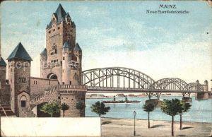 Mainz Rhein Neue Eisenbahnbruecke / Mainz Rhein /Mainz Stadtkreis