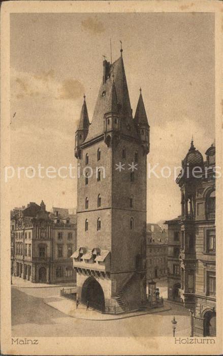 Mainz Rhein Holzturm / Mainz Rhein /Mainz Stadtkreis