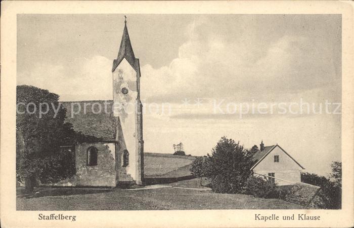 Staffelberg Kapelle und Klause Kat. Bad Staffelstein