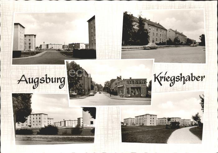 Kriegshaber Siedlung Strassenpartie Kat. Augsburg