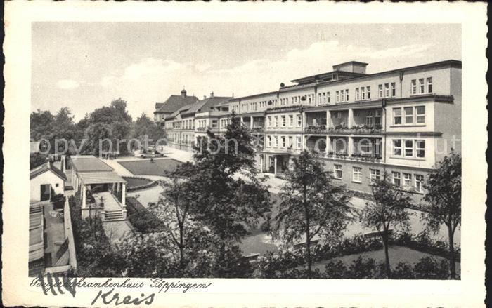 Goeppingen Bezirkskrankenhaus Kupfertiefdruck Kat. Goeppingen