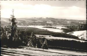 Furtwangen Panorama Blick vom Brend gegen den Feldberg Kat. Furtwangen im Schwarzwald