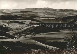 Furtwangen Panorama Blick vom Brend auf den Feldberg Kat. Furtwangen im Schwarzwald