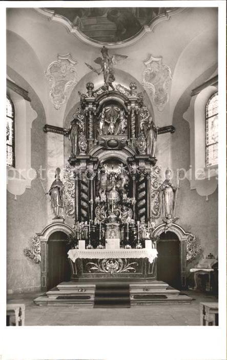 Sasbachwalden Wallfahrtskirche Hochaltar Kat. Sasbachwalden