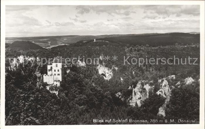 Beuron Donautal Blick auf Schloss Bronnen / Beuron /Sigmaringen LKR
