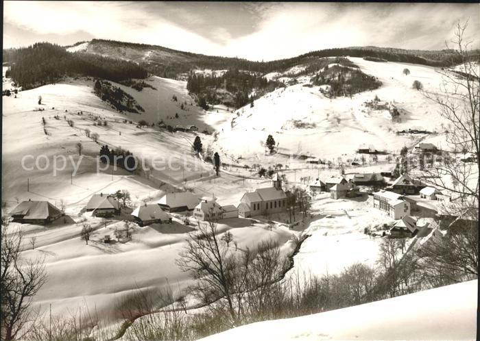 Wieden Schwarzwald Gasthof zum Hirschen Kirche Skilifte / Wieden /Loerrach LKR