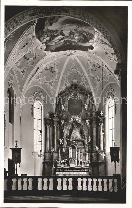 Todtmoos Hochaltar der Pfarr  und Wallfahrtskirche Kat. Todtmoos