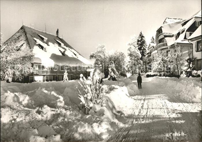 Hinterzarten Parkhotel Adler im Schnee Kat. Hinterzarten