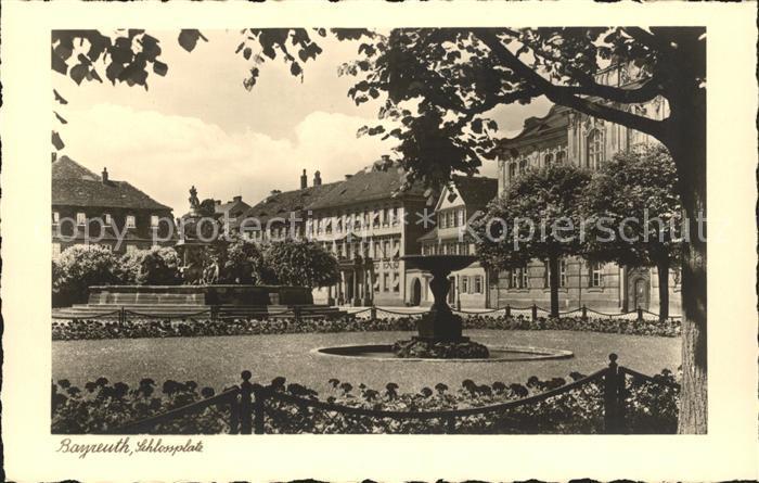 Bayreuth Schlossplatz Kat. Bayreuth
