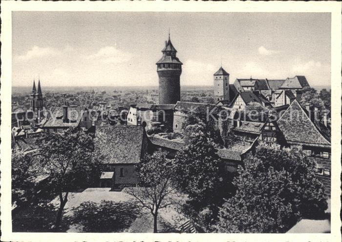 Nuernberg Blick Burg Stadt Kat. Nuernberg