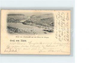 Bingen Rhein Blick vom Niederwald Rhein  Kat. Bingen am Rhein