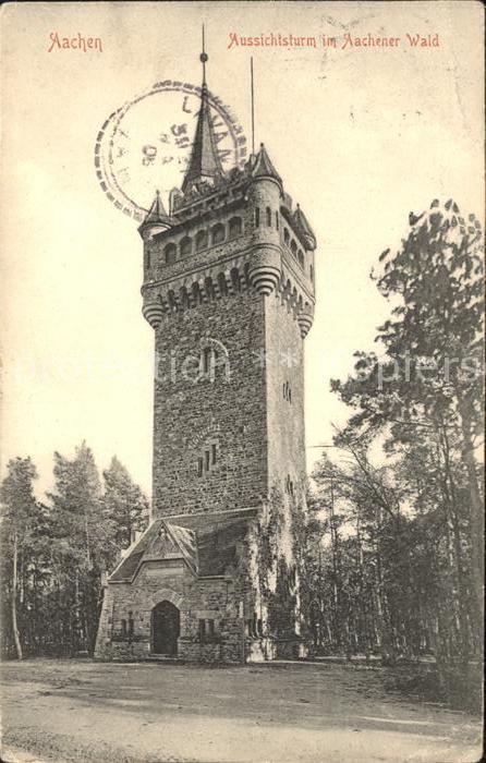 Aachen Aussichtsturm mit Aachener Wald Kat. Aachen