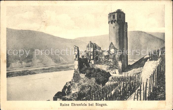 Bingen Rhein Ruine Ehrenfels Kat. Bingen am Rhein