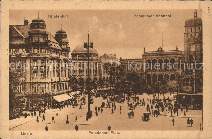 Berlin Potsdamer Platz Bahnhof Kat. Berlin