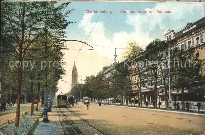Charlottenburg Berlinerstrasse Rathaus / Berlin /Berlin Stadtkreis