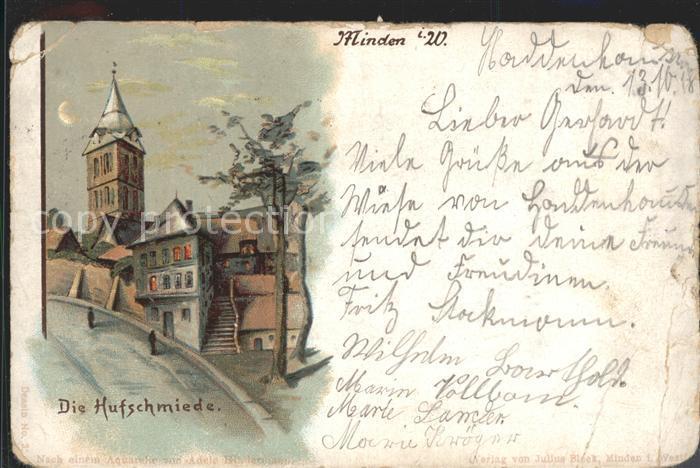 Minden Westfalen Hufschmiede  / Minden /Minden-Luebbecke LKR