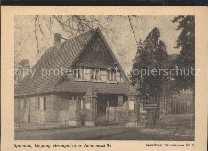 Spandau Eingang Ev. Johannesstift Spandauer Volksblatt Kat. Berlin