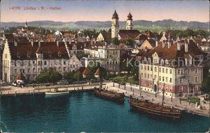 Lindau Bodensee Ortsansicht mit Hafen Kat. Lindau (Bodensee)