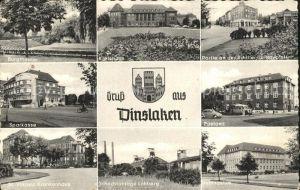 Dinslaken Burgtheater Kreishaus Sparkasse Postamt Krankenhaus Schachtanlage Lohberg Gymnasium Kat. Dinslaken