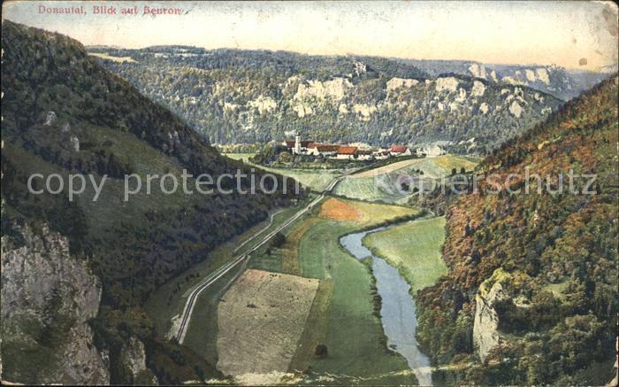 Beuron Donautal Blick ins Donautal mit Beuron / Beuron /Sigmaringen LKR