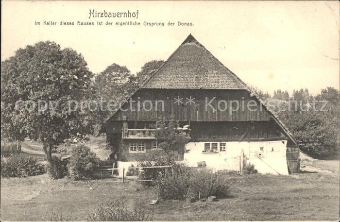 St Georgen Schwarzwald Hirzbauernhof Im Keller Dieses Hauses Ist Der  Eigentliche Ursprung Der Donauquelle Kat.