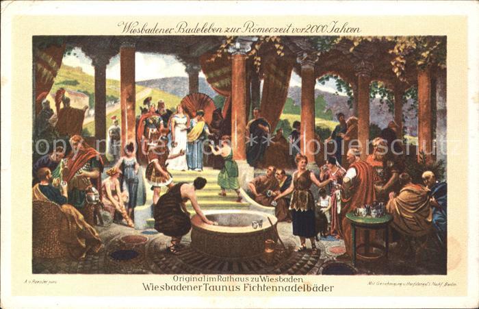 Wiesbaden Wiesbadener Badeleben zur Roemerzeit vor 2000 Jahren Kat. Wiesbaden