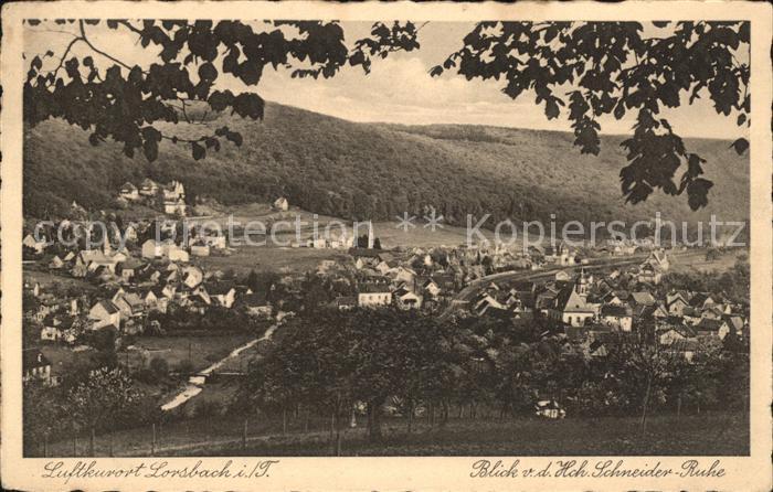 Lorsbach Blick von der Hohen Schneider Ruhe Kat. Hofheim am Taunus