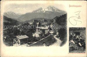 Berchtesgaden Ortsansicht mit Salzbergwerk Ferdinandsberg Kat. Berchtesgaden