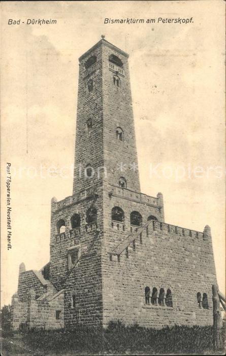 Bad Duerkheim Bismarckturm am Peterskopf Kat. Bad Duerkheim