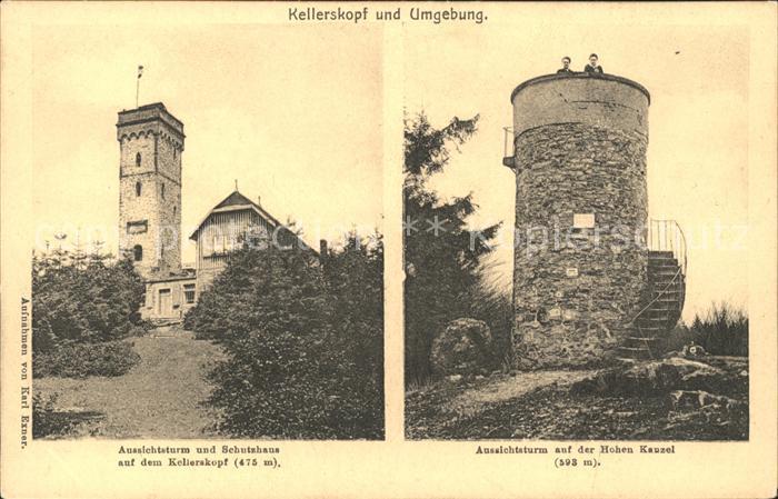 Neuhof Taunus Kellerskopf Aussichtsturm Schutzhaus Kellerkopf Hohen Kanzel Kat. Taunusstein