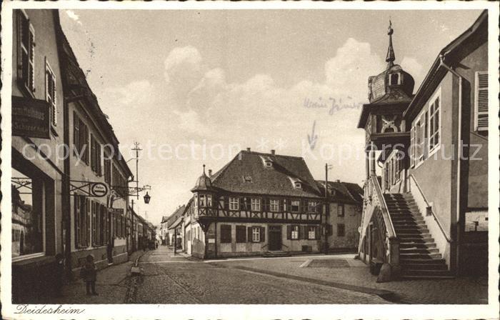 Deidesheim Strassenansicht Gasthaus Kinder Kat. Deidesheim
