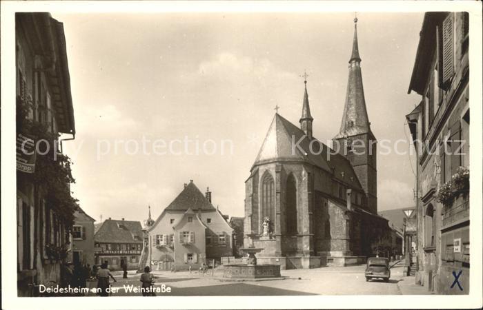 Deidesheim Kirche Strassenansicht Kat. Deidesheim