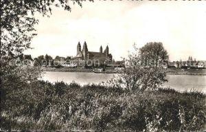 Speyer Rhein Blick Dom Dampfer  Kat. Speyer