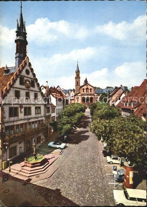 weinheim bergstrasse historisches marktplatz altes rathaus st laurentius kirche kat weinheim. Black Bedroom Furniture Sets. Home Design Ideas