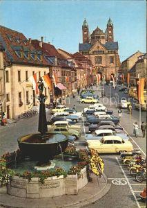 Speyer Rhein Blick Dom Brunnen Kat. Speyer